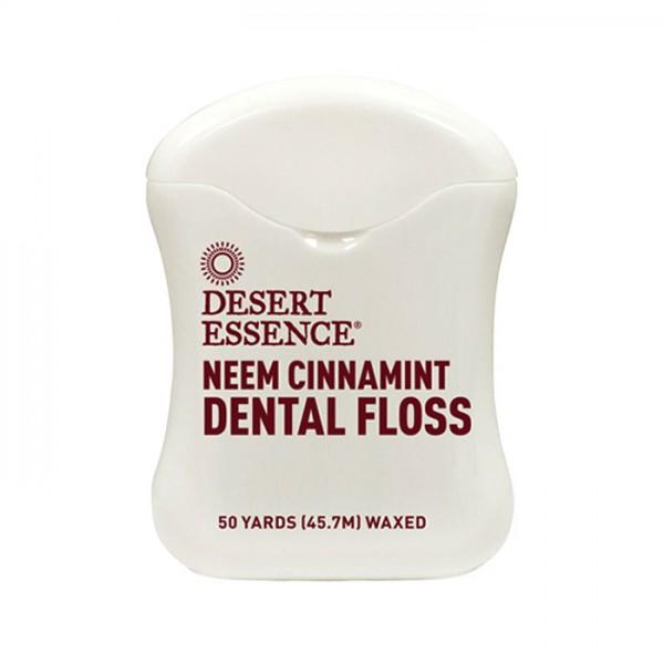 Desert Essence Zahnseide mit Niem und Zimt, 45,7 m