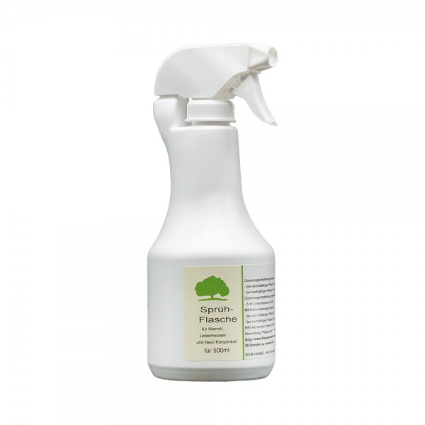 Sprühflasche für Niemöl und Lebermooser