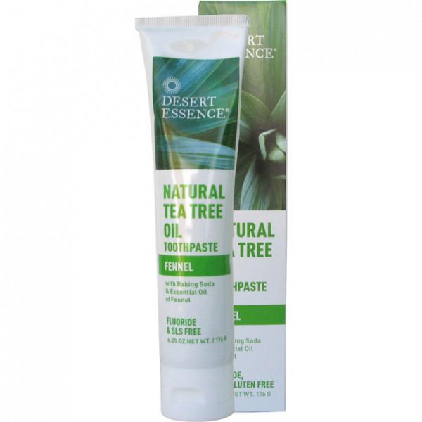 Desert Essence Teebaumöl-Zahncreme mit Fenchel, 115 ml